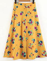 cheap -Women's Basic A Line Skirts - Floral, Print