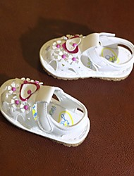 cheap -Girls' Shoes PU Summer Comfort / First Walkers Sandals for White / Light Purple / Pink