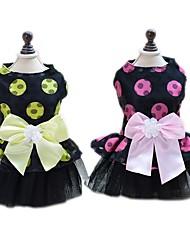 Недорогие -Животные Комбинезоны Платья Одежда для собак Однотонный Цветы Мультипликация Желтый Пурпурный Сеть Костюм Для домашних животных Стиль