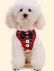 cheap -Dogs Furry Small Pets Pets Tuxedo Leash Tie / Bow Tie Dog Clothes Plaid / Check Bowknot Classic Red Black Fabric Costume For Pets Animals