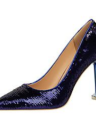 preiswerte -Damen Schuhe Lycra Paillette Satin Sommer Herbst Pumps Komfort High Heels Stöckelabsatz Geschlossene Spitze Spitze Zehe Paillette für