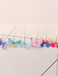 cheap -Drop Earrings - Butterfly European, Sweet, Fashion Light Purple / Red / Light Blue For Party / Party / Evening