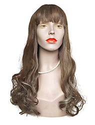 cheap -Synthetic Wig Wavy Layered Haircut Synthetic Hair Natural Hairline Brown Wig Women's Long Capless Brown / White