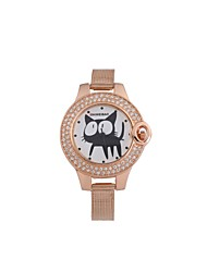 cheap -SHI WEI BAO Women's Kid's Casual Watch Fashion Watch Unique Creative Watch Quartz Casual Watch Stainless Steel Band Analog Fashion Rose Gold - Rose Gold One Year Battery Life / SSUO 377