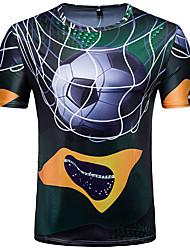 economico -T-shirt Per uomo Moda città Con stampe, Monocolore