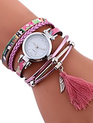 Недорогие -Жен. Модные часы Китайский Повседневные часы PU Группа На каждый день / Мода Черный / Синий / Оранжевый / Один год