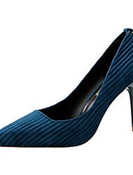 Недорогие -Жен. Обувь Материал на заказ клиента Флис Лето Осень Туфли лодочки Удобная обувь Обувь на каблуках На шпильке Закрытый мыс Заостренный