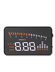 cheap -x5 3.5 inch LED Wired 3.5inch Head Up Display LED indicator Low voltage alarm Multi-functional display for Truck Bus Car Display KM / h