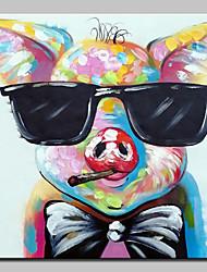 baratos -Pintura a Óleo Pintados à mão - Arte Pop Modern Tela de pintura
