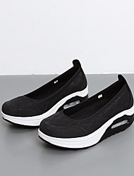 abordables -Femme Chaussures Tulle Printemps / Eté Confort Mocassins et Chaussons+D6148 Hauteur de semelle compensée Bout rond Blanc / Noir / Gris