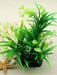 Недорогие -Оформление аквариума Waterproof Водное растение Растения Водонепроницаемость Украшение Влажная чистка Пластик