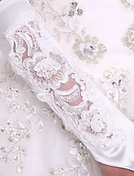 cheap -Stretch Satin Elbow Length Glove Luxury / Bridal Gloves / Party / Evening Gloves With Embroidery