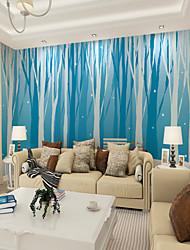baratos -Mural Tela de pintura Revestimento de paredes - adesivo necessário Floral Árvores / Folhas 3D