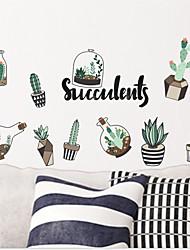abordables -Stickers muraux Autocollants muraux décoratifs - Autocollants avion Paysage A fleurs / Botanique Repositionable Amovible