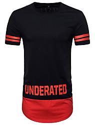 baratos -Homens Camiseta Moda de Rua Estampa Colorida Letra