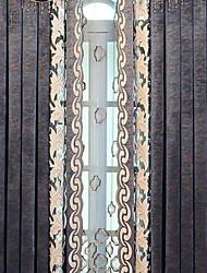 preiswerte -Gardinen Shades Schlafzimmer Blumen Baumwolle / Polyester Stickerei