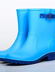 baratos -Para Meninos / Para Meninas Sapatos Pele PVC Outono Botas de Chuva Botas para Azul Escuro / Azul Claro / Vinho