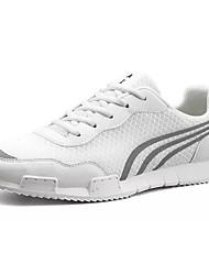 お買い得  -男性用 靴 チュール 春 秋 コンフォートシューズ スニーカー のために カジュアル ホワイト ブラック ブルー