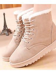 povoljno -Žene Cipele Nubuk koža Zima Vojničke čizme Čizme Ravna potpetica Čizme gležnjače / do gležnja za Kauzalni Crvena Pink Žutomrk