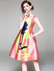 cheap -SHIHUATANG Women's Vintage Street chic A Line Dress - Floral, Print