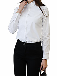 cheap -Women's Business Basic Shirt - Solid Colored
