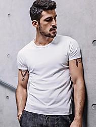 billige Herremode og tøj-Herre - Ensfarvet Basale Gade T-shirt