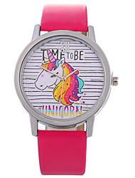 Недорогие -Жен. Модные часы Китайский Повседневные часы PU Группа Мода / Цветной Черный / Белый / Синий