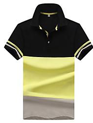cheap -Men's Basic Polo - Color Block, Print