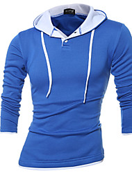 cheap -Men's Active Street chic Hoodie - Solid Colored