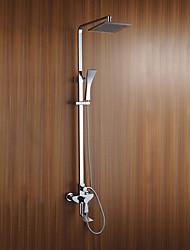 cheap -Shower Faucet - Art Deco/Retro Chrome Shower System Ceramic Valve