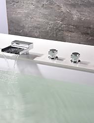 economico -Rubinetto vasca - Moderno Cromo Vasca e doccia Valvola in ceramica