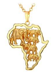 Недорогие -Муж. Жен. Ожерелья с подвесками - Мода Золотой 55 cm Ожерелье Бижутерия Назначение Повседневные