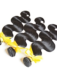 cheap -Brazilian Hair Body Wave Unprocessed / Human Hair Gifts / Brands Outlet Human Hair Weaves Hot Sale / Coloring Natural Black Women's / All