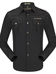 baratos -Homens Camisa de Trilha Ao ar livre Secagem Rápida, Respirabilidade, Redutor de Suor Camisa / Blusas N / D Exercicio Exterior / Multi-Esporte