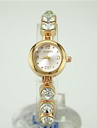 Недорогие -Жен. Часы-браслет Китайский Кварцевый Повседневные часы сплав Группа Мода Золотистый