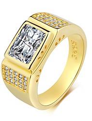 preiswerte -Bandring - 1 Kreisform Retro / Elegant Gold Ring Für Hochzeit / Verlobung / Zeremonie