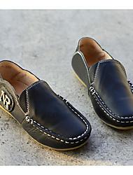 Недорогие -Мальчики Обувь Кожа Весна / Осень Удобная обувь / Мокасины Мокасины и Свитер для Белый / Черный / Желтый