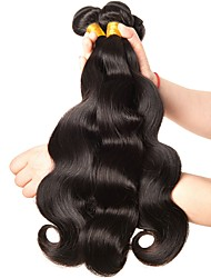 tanie -6 pakietów Włosy indyjskie Body wave Włosy naturalne Fale w naturalnym kolorze Pakiet włosów Pakiet One Solution 8-28 in Natutalne Kolor naturalny Ludzkie włosy wyplata Jedwabisty Gładki Najwyższa