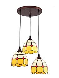 Недорогие -JLYLITE 3-Light кластер Подвесные лампы Рассеянное освещение Окрашенные отделки Металл Стекло Мини 110-120Вольт / 220-240Вольт Лампочки не включены / SAA / FCC / VDE / E26 / E27