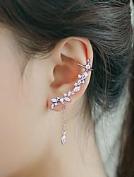 cheap -Women's Cubic Zirconia Tassel Ear Cuff / Ear Climbers - Silver Plated Tassel, Fashion Silver For Wedding / Party