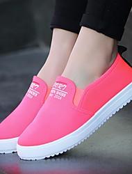 povoljno -Žene Cipele Platno Proljeće Jesen Udobne cipele Natikače i mokasinke Niska potpetica za Kauzalni Obala Crn Fuksija