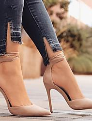 Недорогие -Жен. Обувь Нубук Весна / Осень Удобная обувь / Оригинальная обувь Обувь на каблуках На шпильке Заостренный носок Пряжки Зеленый / Синий /