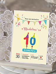 cheap -Gate-Fold Wedding Invitations 30pcs - Engagement Party Cards Bridal Shower Cards Baby Shower Cards Mother's Day Cards Invitation Sample