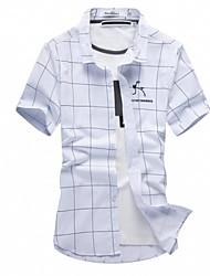 billige -Herre - Stribet Trykt mønster Basale Skjorte