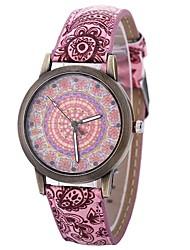 baratos -Mulheres Relógio de Moda Chinês Mostrador Grande PU Banda Casual / Fashion Preta / Azul / Laranja / Um ano