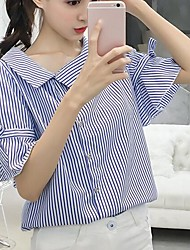 cheap -Women's Business Cute Shirt-Striped,Bow