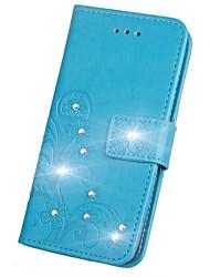 Недорогие -Кейс для Назначение Sony Xperia XZ2 / Xperia L2 Стразы / Флип / Рельефный Чехол Мандала / Бабочка Твердый Кожа PU для Sony Xperia Z2 / Sony Xperia Z3 / Sony Xperia Z3 Compact