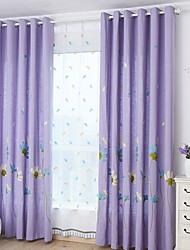 cheap -Blackout Curtains Drapes Bedroom Cartoon Cotton / Polyester Printed