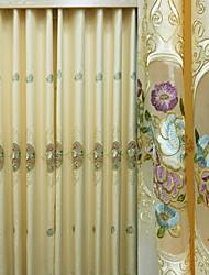 abordables -cortinas cortinas Sala de estar Floral Algodón / Poliéster Bordado