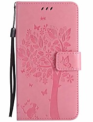 cheap -Case For Huawei Honor 8 Wallet with Stand Flip Full Body Cases Flower Tree Hard PU Leather for Honor 8 Honor 6X Huawei Honor 5C Huawei